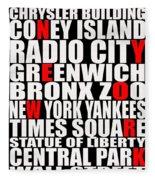 Graphic New York 3 Fleece Blanket