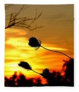 Grasping The Sunset Fleece Blanket