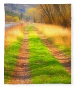 Grass And Shadows Fleece Blanket