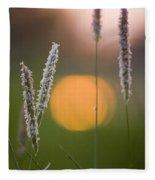 Grass Blooming Fleece Blanket