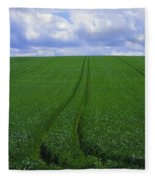 Grass Field Fleece Blanket
