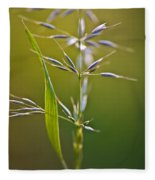 Grass In Flower Fleece Blanket