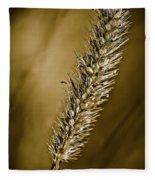 Grass Seedhead Fleece Blanket