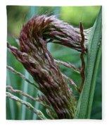 Grass Worm Fleece Blanket