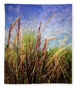 Grasses Standing Tall Fleece Blanket
