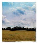 Grassy Country Fields Fleece Blanket