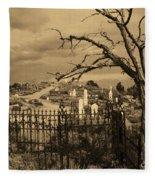 Grave At Virginia City Fleece Blanket