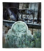 Gravestone With Dove Carved  Fleece Blanket