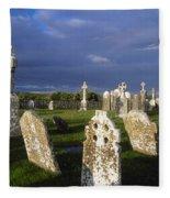 Graveyard, Clonmacnoise, County Offaly Fleece Blanket
