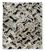 Gray Abstract Swirls Fleece Blanket