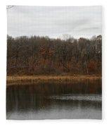 Gray Lake Fleece Blanket