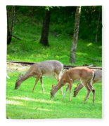 Grazing Doe Fleece Blanket