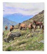 Grazing In The Foothills Fleece Blanket
