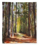 Great Brook Farm Summer Path Fleece Blanket
