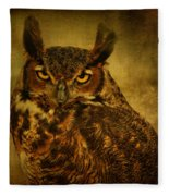 Great Horned Owl Fleece Blanket