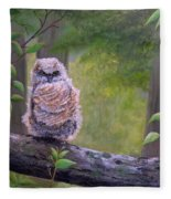 Great Horned Owlette Fleece Blanket