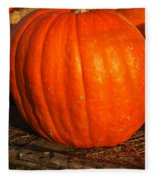 Great Orange Pumpkin Fleece Blanket
