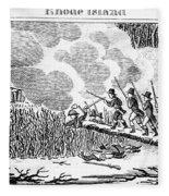 Great Swamp Fight, 1675 Fleece Blanket