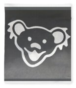 Greatful Dead Dancing Bear In Negative Fleece Blanket