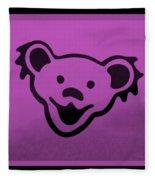 Greatful Dead Dancing Bear In Pink Fleece Blanket