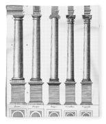 Greek And Roman Columns Fleece Blanket