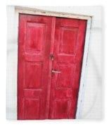 Greek Door Fleece Blanket