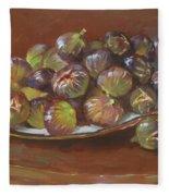 Greek Figs Fleece Blanket