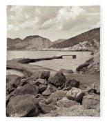 Greek Harbour Fleece Blanket