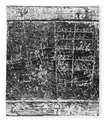 Greek Multiplication Table Fleece Blanket