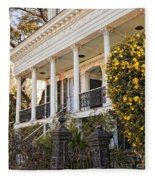 Greek Revival And The Tiny Pink Shoe - Garden District New Orleans Fleece Blanket