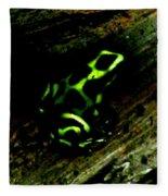 Green And Black Poison Dart Frog Fleece Blanket