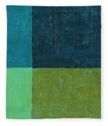 Green And Blue Fleece Blanket