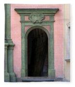 Green And Pink Doorway In Krakow Poland Fleece Blanket