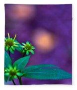 Green And Turquoise Fleece Blanket