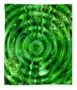 Green As Grass Fleece Blanket