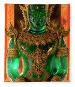 Green Buddha Fleece Blanket