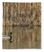 Green Drake Reflections Fleece Blanket