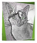 Green Eyed Monster Fleece Blanket