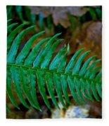 Green Fern Fleece Blanket