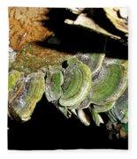 Green Fungi Fleece Blanket