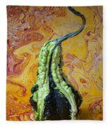 Green Gourd Fleece Blanket