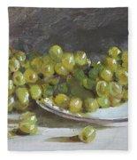 Green Grapes  Fleece Blanket