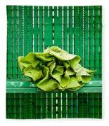 Green Greens Fleece Blanket