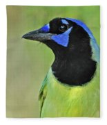 Green Jay Portrait Fleece Blanket