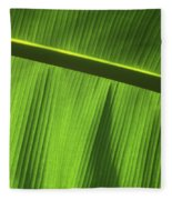 Green Leaf, Close-up Fleece Blanket