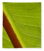 Green Leaves Series  8 Fleece Blanket