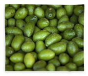 Green Olives Fleece Blanket