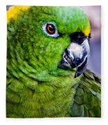 Green Parrot Fleece Blanket