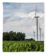 Green Power Fleece Blanket