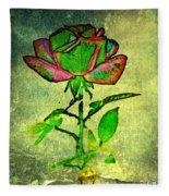 Green Rose Fleece Blanket